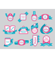 Labels with cyan ribbons vector | Price: 1 Credit (USD $1)
