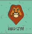 lion graphic for print vector image vector image