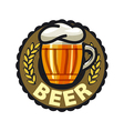 logo beer in a glass mug vector image