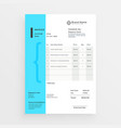 minimal creative invoice template design vector image vector image
