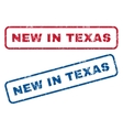 New In Texas Rubber Stamps vector image vector image