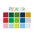 Pioneer Color Tone without Code vector image vector image