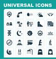 ramadan icons set collection of hijab nacht vector image vector image
