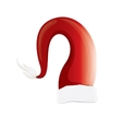 red santa hat isolated on white background vector image vector image