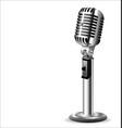 retro vintage microphone vector image vector image