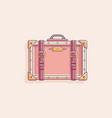 retro vintage suitcase vector image vector image