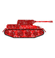 russian tank khokhloma painting russia military vector image vector image