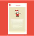 santa clause mobile vertical banner design design vector image vector image