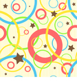 Seamless pattern with circles and stars vector image
