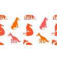 seamless pattern with fox logo vector image vector image