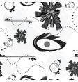 seamless tileable pattern with abstract shapes vector image