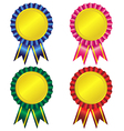 Set of award ribbon vector image vector image