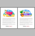 summer sale and discounts offers and coupons vector image vector image