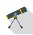 Telescope icon flat style vector image vector image