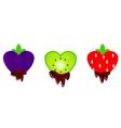 valentines fruit chocolates vector image vector image
