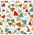 Vintage Ginko biloba Leaf pattern vector image vector image