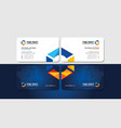 visiting card with creatively multicolored hexagon vector image vector image