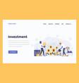web design flat modern concept - investment vector image
