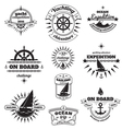 Yachting emblems set vector image vector image