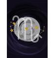 zodiac scorpio sign a4 print poster vector image vector image