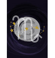 zodiac scorpio sign a4 print poster with vector image vector image