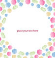 Greeting card with flowers watercolor can be used vector image