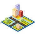 3790colrcolorful 3d isometric city vector image vector image