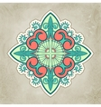 Abstract floral and ornamental item background vector image