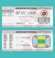 american football ticket modern design vector image vector image