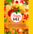 autumn season and thanksgiving day banner design vector image vector image