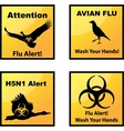Avian flu alerts icons vector image vector image