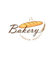 baguette bakery and dessert logo sign icon vector image vector image