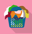 basket of dirty clothes icon flat style vector image