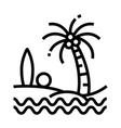beach line icon vector image vector image