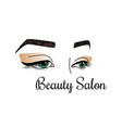 beauty salon logotype with womens vector image