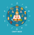 beer flat vector image