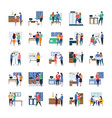 business meetings discussions work in progress vector image