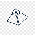 captives to egypt concept linear icon isolated on vector image
