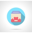 Charity container round flat color icon vector image
