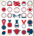 collection retro vintage badges labels and vector image vector image