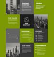 company profile template vector image vector image