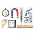 compass and magnet alpelmet with thermometer vector image