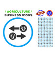 cow exchange arrows rounded icon with set vector image vector image