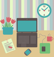desk flat design vector image