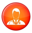 Doctor icon flat style vector image vector image