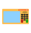 electronic device for voting in presidential and vector image vector image