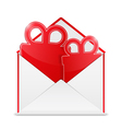 Envelope with Gift vector image vector image