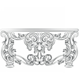 Fabulous Rich Rococo Desk Table vector image vector image
