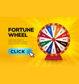 fortune wheel lottery play online casino banner vector image
