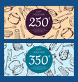 gift voucher or discount card kitchen vector image
